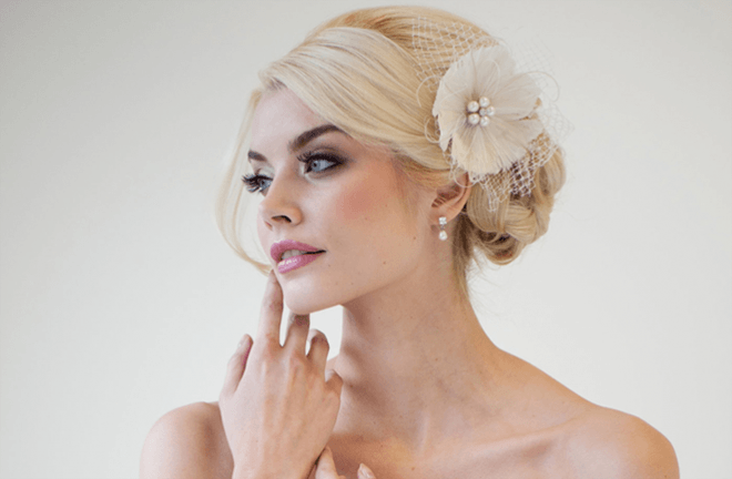 vintage wedding hairstyles for long bangs