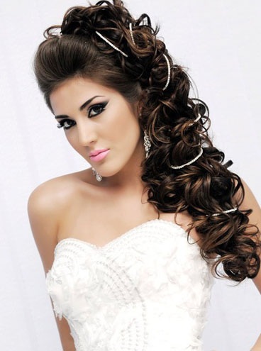 wedding hairstyles for Bride With long hair 11-min