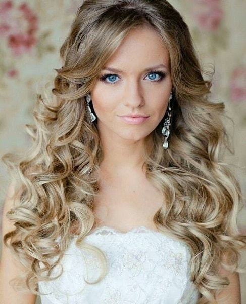 curl wedding hairstyles with long hair