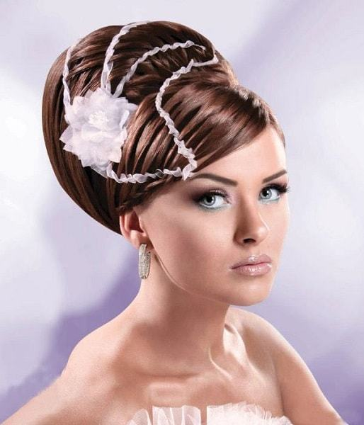wedding hairstyles for Bride With long hair 17-min