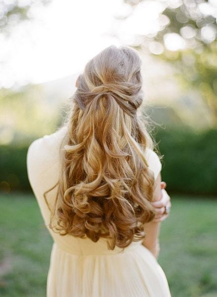 wedding hairstyles for Bride With long hair 19-min