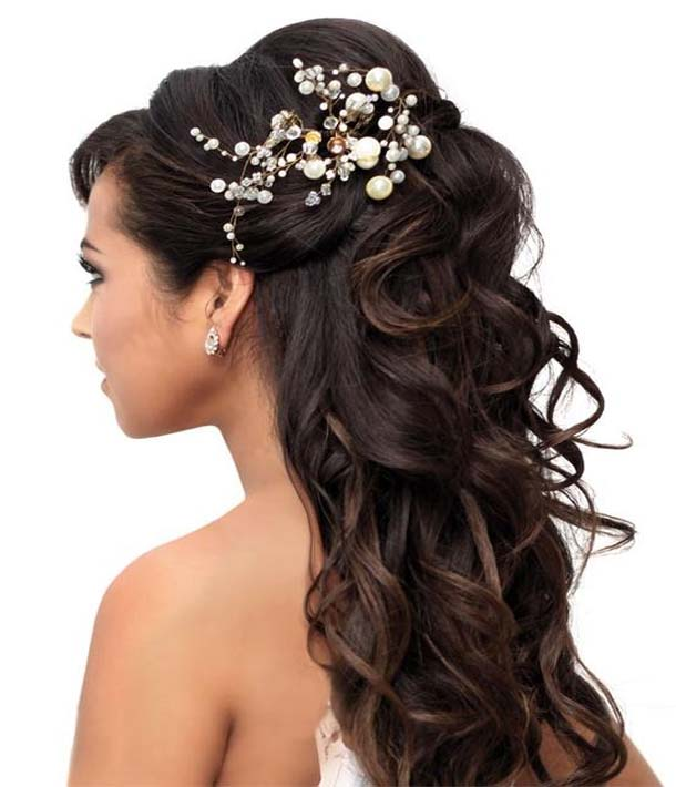 Peachy 25 Unique Wedding Hairstyles For Beautiful Brides With Long Hair Hairstyles For Women Draintrainus