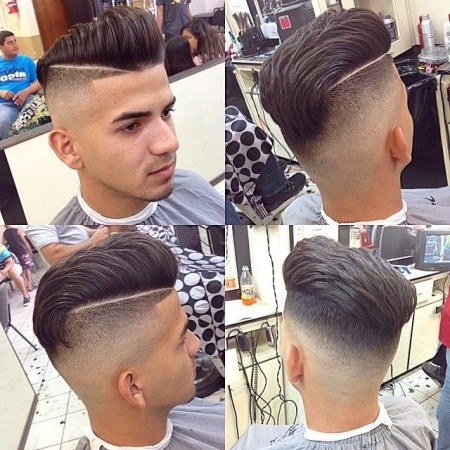 Galerry undercut hairstyle vs fade