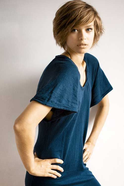 Layered Rounded Crop nice short haircut