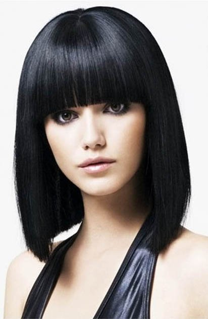 Blunt Bangs - type of bangs style