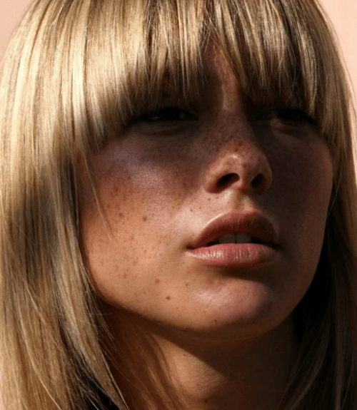 arched bangs style