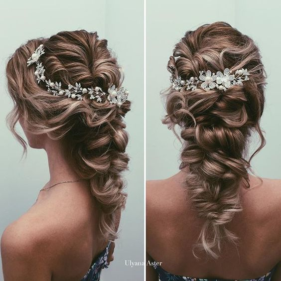 Quinceanera Hairstyles For Long Hair With Curls And Tiara : ... but are hard to hold together the hair is curled swept backwards and