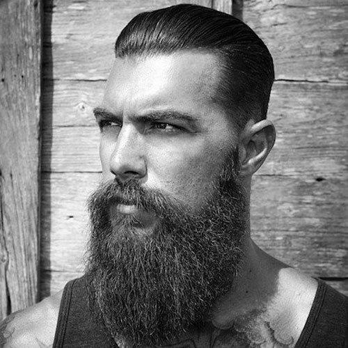short hair long beard