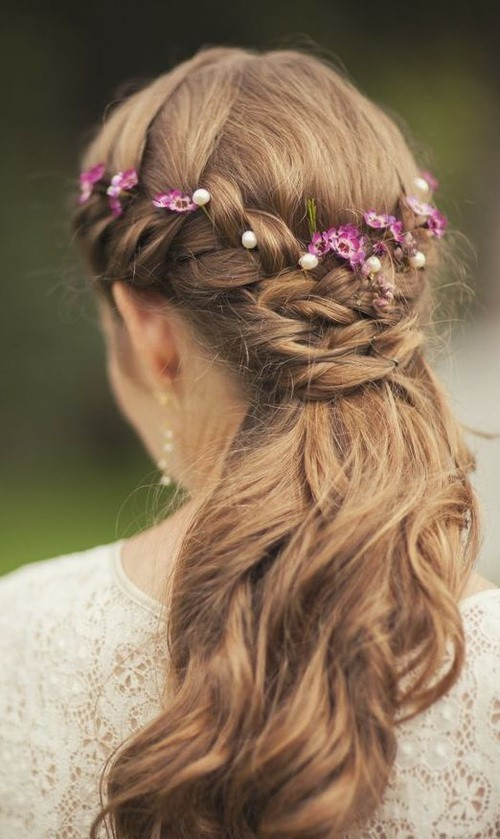wedding hairstyle for half up half down