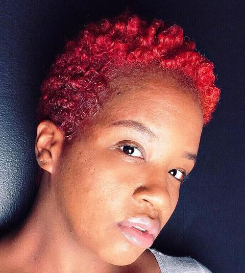 Mix color TWA hairstyle for girl