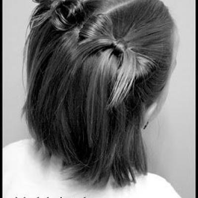 40 Cutest Bow Hairstyles For Girls On The Go Hairstylecamp