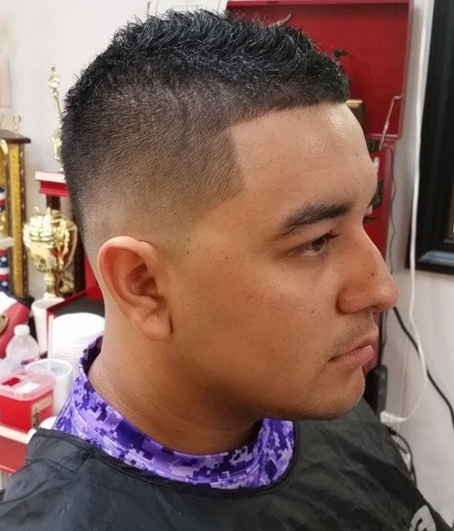 simple spiky fade hairstyle