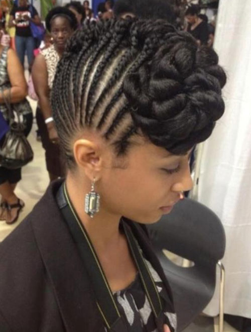 Large braided mohawk for young girl