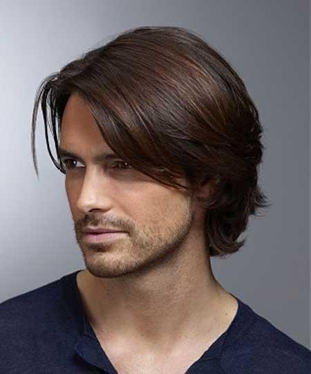 Medium Hairstyles Men men medium length haircuts more Medium Length Bangs For Men