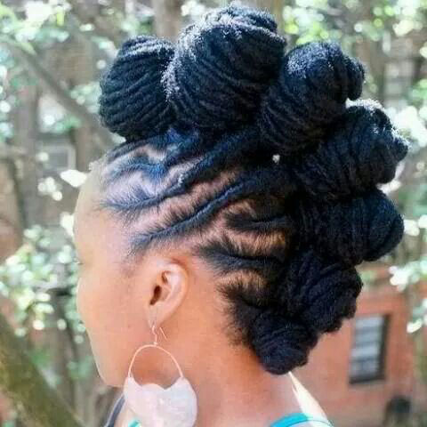 Dreadlock mohawk hairstyle for girl
