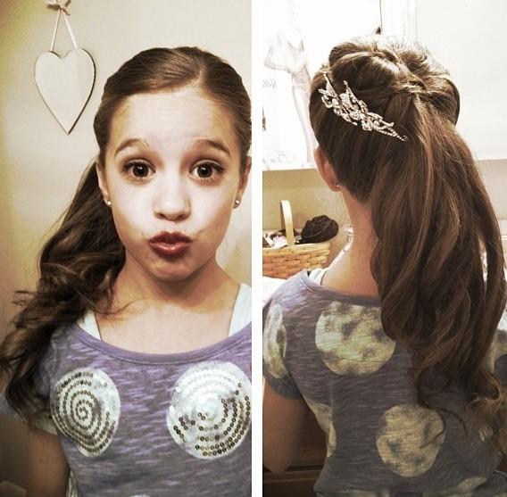 girl favorite Half braided ponytail hair