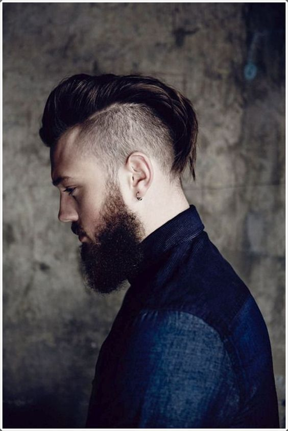 Comb over fohawk for men