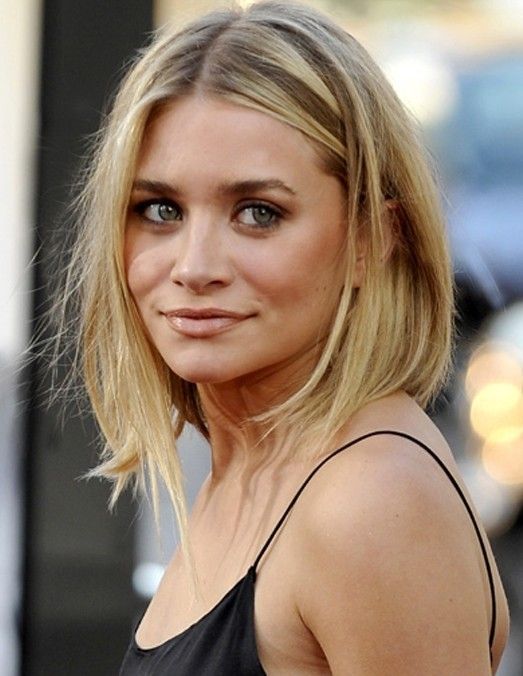 Messy and asymmetrical haircut for women