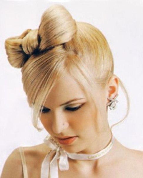 Bow weave hair for cut girl