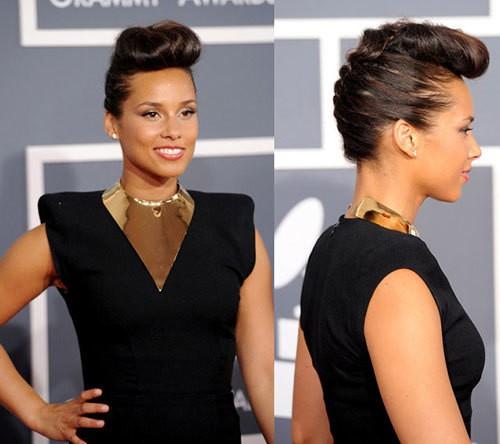 Creative mohawk haircut for black women