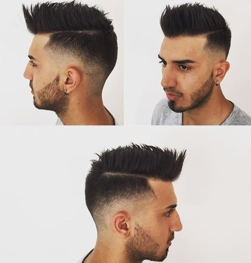 best spiky pompadour haircut