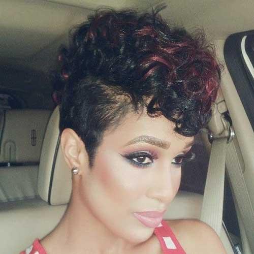 black girl short curly undercut