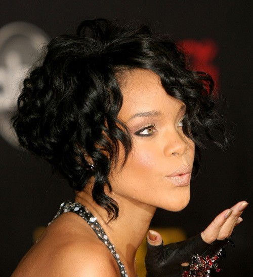 Black women can create an amazing a-line bob out of their curly hair. Make  the back part stacked by cutting it as short as possible. c6ed220864