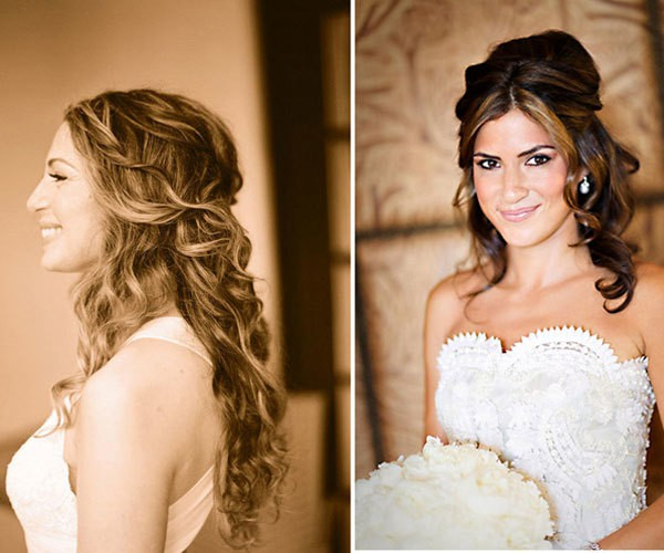 Nice wedding hairstyle down for women