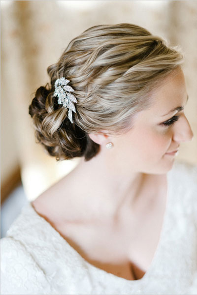 Braided bun hairstyle for girl