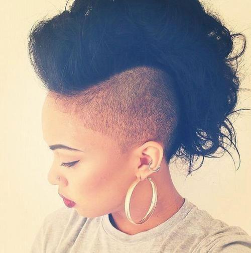 Voluminous mohawk haircut you like
