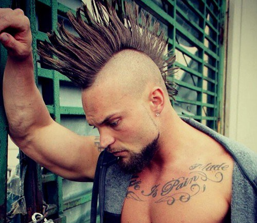 crazy Mohawk hair style