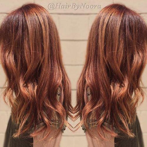auburn hair with blonde - Auburn Hair Color With Blonde Highlights