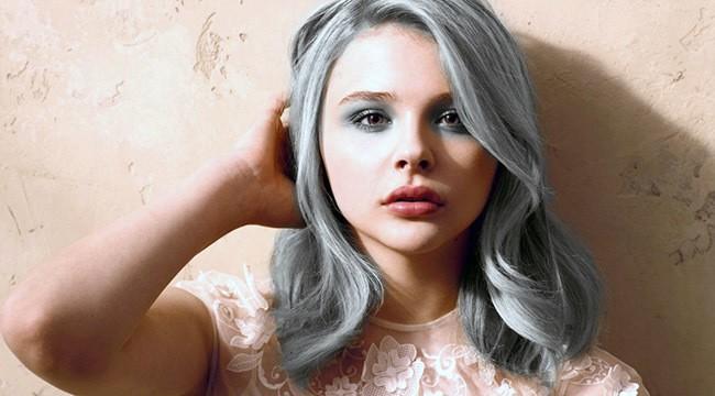 Grandma grey style hair for young girl