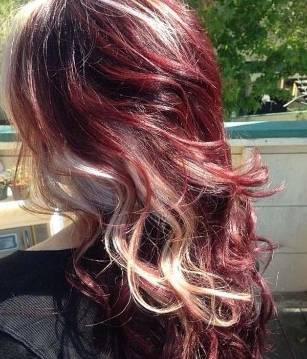 Blonde hair with light red highlights 2017
