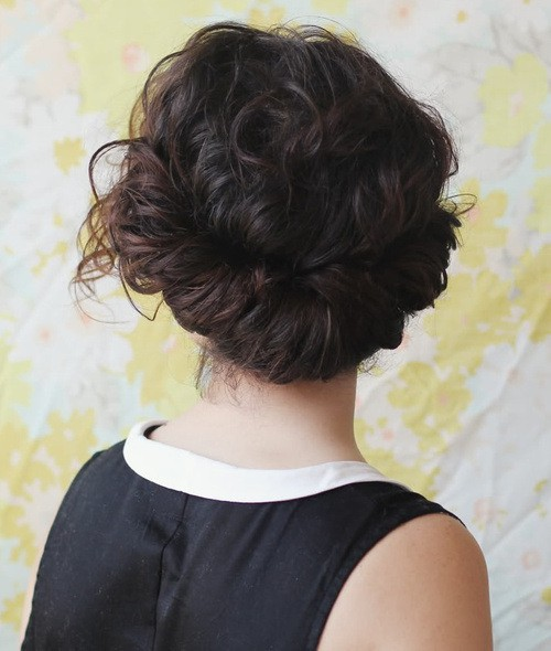 Low twist updos curly hair for women
