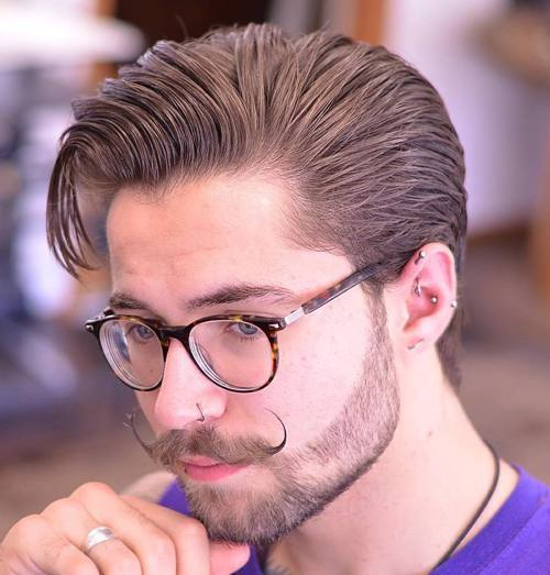 7 slick back hipster hairstyles for men girls love these combover cowlick hipster hairstyle for men solutioingenieria Choice Image