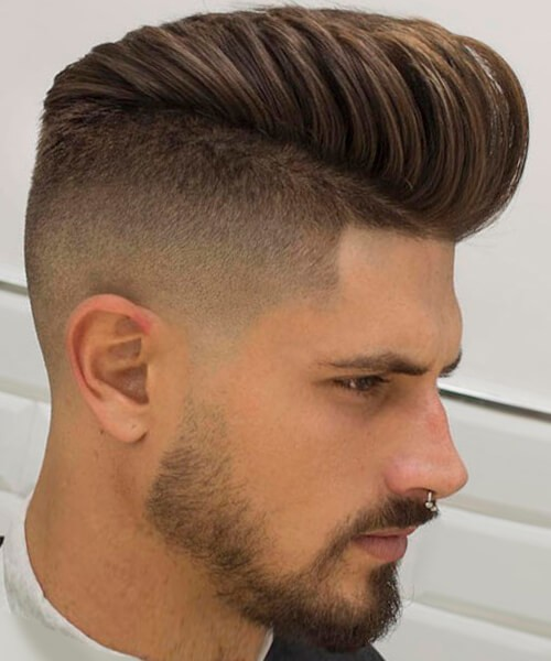 1. Tapered Fohawk Blowout
