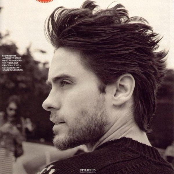 Wild and Wind-Swept hairstyle for Jared Leto