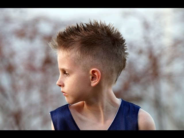 Spiky Fohawk hairstyle for little boy