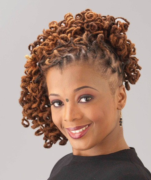 High and mighty hairstyle for black girl