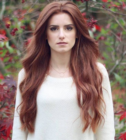 Long brown hairstyle for women
