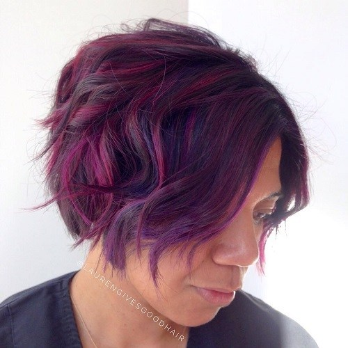 Wild colors hairstyle for black 40 women