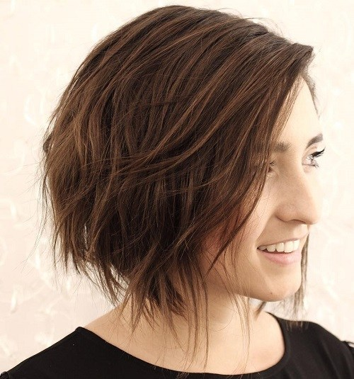 Classic chop hairstyle for young girl