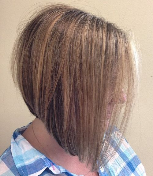 nice hairstyle with Asymmetrical bob haircut for women