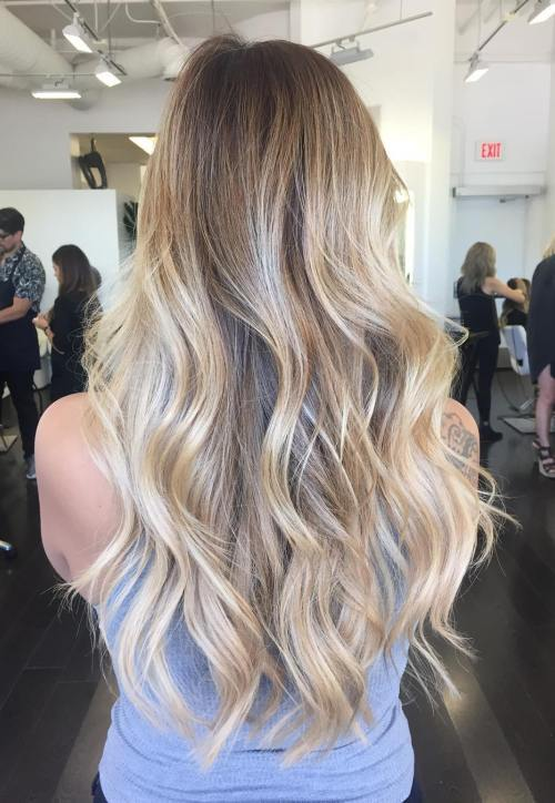 Tricky ombre hairstyle for girl