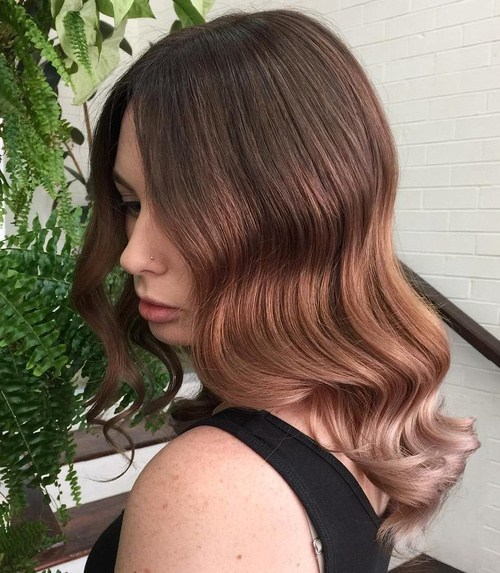 Brown, red, and rose with ombre hair colors for cute girls