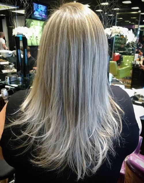 cool Platinum blond hairstyle for women