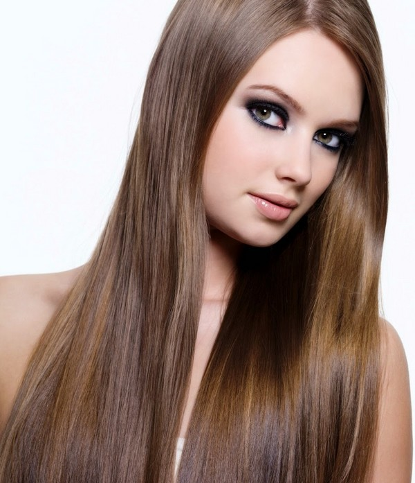 long hairstyles with straight and neat