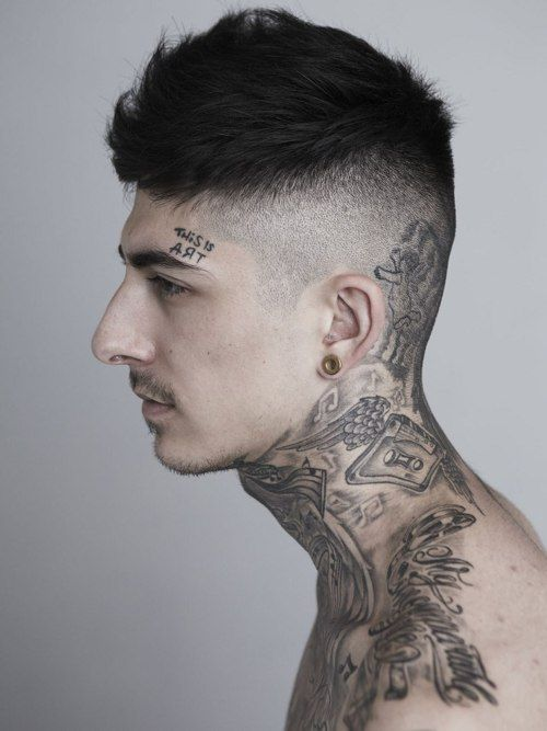 large hairline tattoo for boy