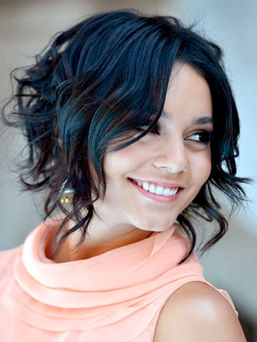 Black And Blue Color Short Curly Hair For